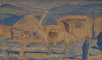 campement en mongolie [mongolian camp] by alexander evgenievich iacovleff